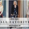 FALL FASHION FAVES; LOOKS TO TRY NOW